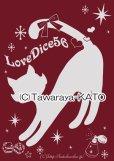 画像3: DiceCat Tシャツ【バーガンディ×シルバーラメプリント/Mサイズ】 (3)