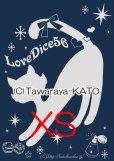 画像1: DiceCat Tシャツ【インディゴ×シルバーラメプリント/XSサイズ】 (1)
