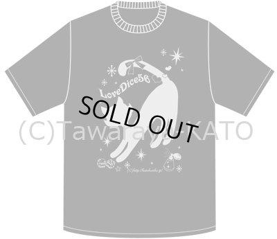 画像2: DiceCat Tシャツ【インディゴ×シルバーラメプリント/XSサイズ】