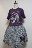 画像3: DiceCat Tシャツ【マットパープル×シルバーラメプリント/Sサイズ】 (3)