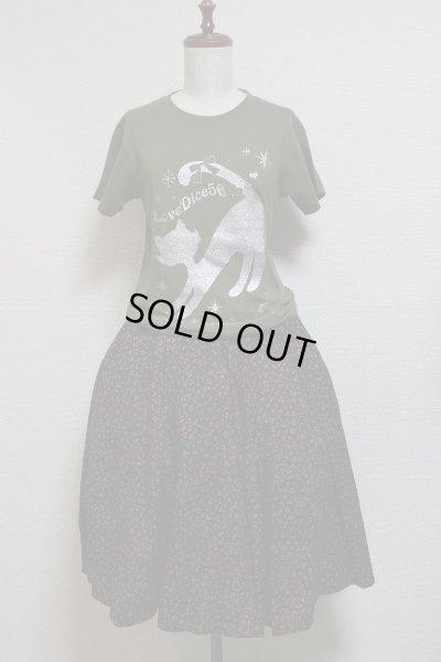 画像3: DiceCat Tシャツ【シティグリーン×シルバーラメプリント/XSサイズ】