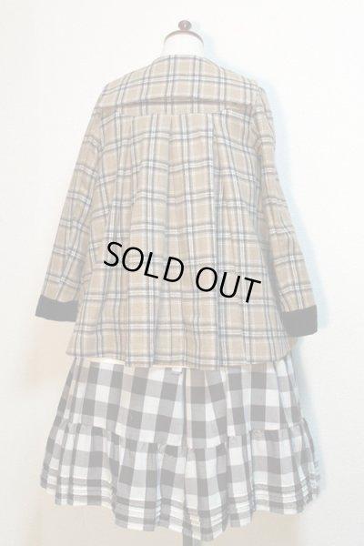 画像4: 【Sale 50% OFF】セーラーショートコート【ベージュチェック】
