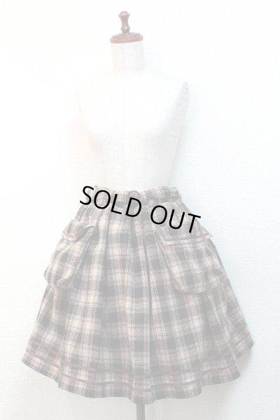 画像2: 【Sale 50% OFF】ポケット付SK【茶チェック】