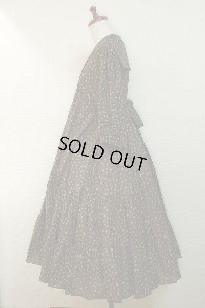 画像2: 【Sale50%OFF】セーラー衿3段ティアードOP【茶色小花柄】