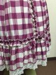 画像5: 【Sale50%OFF】シフォンリボンスカート【ラズベリーチェック】 (5)