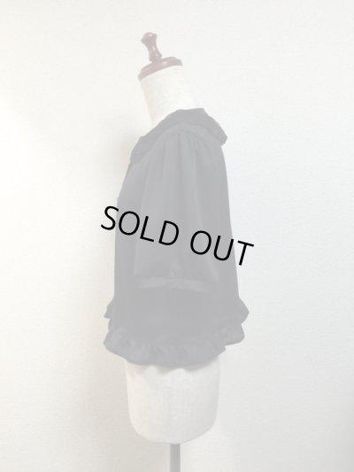 画像2: 【Sale50%OFF】半袖カーディガン【黒×黒レース】