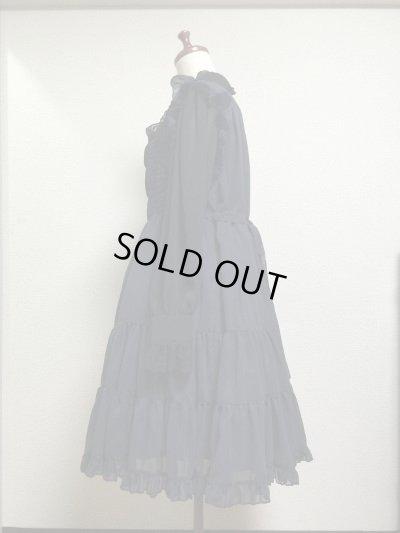 画像2: エプロンドレス風ジャンパースカート【紺】