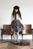 画像2: 【PhysicalDrop×LIEF】ノスタルジービスケット柄ギャザースカート・ミニ丈 (2)