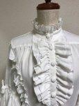 画像4: ケープ衿付きスタンドカラーブラウス(姫袖)【白】