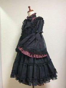 他の写真1: ケープ衿付きスタンドカラーブラウス(姫袖)【ボルドー】