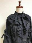 画像5: ケープ衿付きスタンドカラーブラウス(姫袖)【黒】