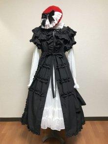 他の写真1: 共布フリルミディアムドレス【黒】
