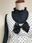 画像4: タックジャンパースカート【白黒水玉】
