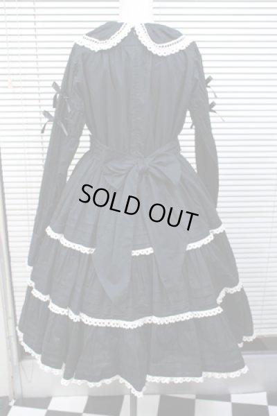 画像3: 【Sale50%オフ】ハシゴレースOP【綿ローン・黒】