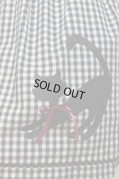 画像2: 【Sale】ねこプリントSK【大ギンガム×赤リボン】