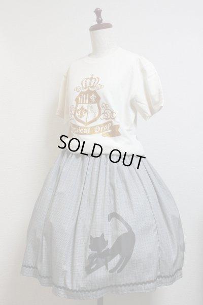 画像3: エンブレム半袖Tシャツ/Sサイズ【オフ白×ゴールドプリント】