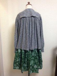 他の写真3: ハンドメイドギャザースカート【グリーン・森柄・60丈】
