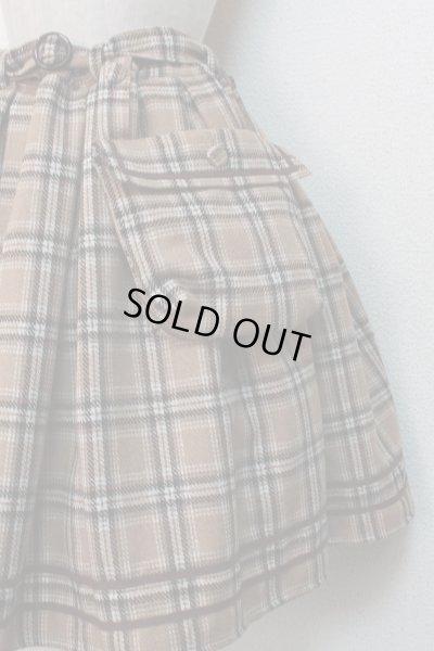 画像3: 【Sale50%オフ】ポケット付SK【ベージュチェック】