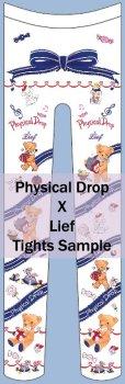 画像1: Physicaldrop×Liefコラボタイツ【くまのハッピーマーチ柄】 (1)