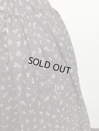 画像2: 【Sale50%OFF】ポケット付きピンタックティアードスカート【茶色小花柄】