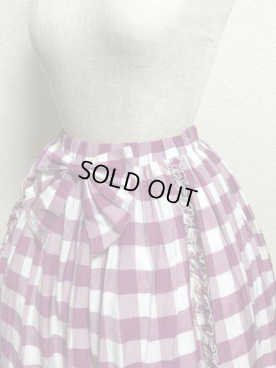 画像4: 【Sale50%OFF】シフォンリボンスカート【ラズベリーチェック】