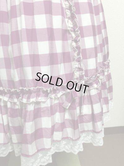 画像5: 【Sale50%OFF】シフォンリボンスカート【ラズベリーチェック】