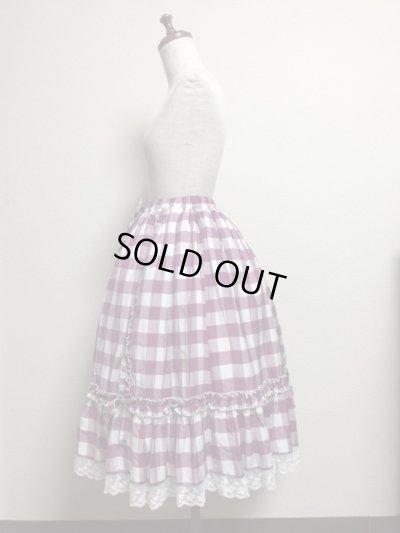 画像2: 【Sale50%OFF】シフォンリボンスカート【ラズベリーチェック】
