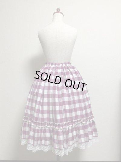 画像3: 【Sale50%OFF】シフォンリボンスカート【ラズベリーチェック】