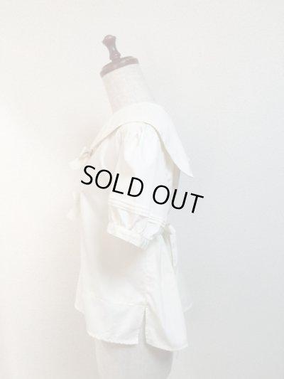 画像2: 【Sale50%OFF】半袖セーラーブラウス【生成無地】