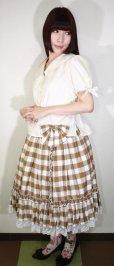画像6: 【Sale50%OFF】シフォンリボンスカート【キャラメルチェック】