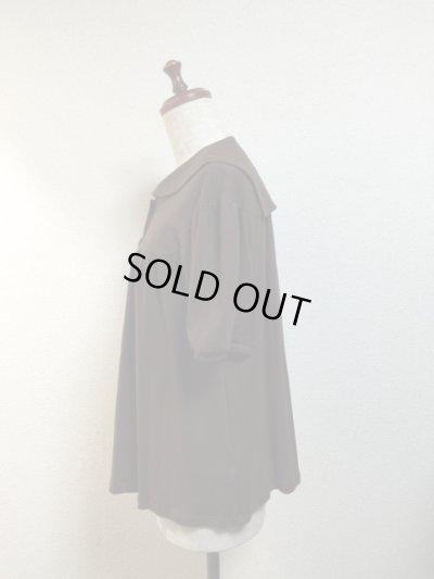 画像2: 【Sale50%OFF】半袖セーラーカットソー【茶色】