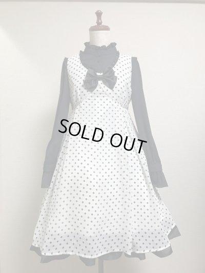 画像1: 【Sale50%OFF】タックジャンパースカート【白黒水玉】