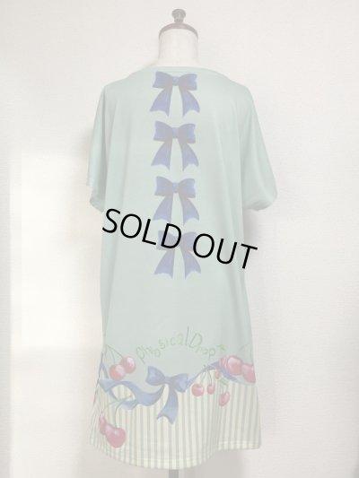 画像2: 【Sale30%OFF】カットソーワンピース【チェリー柄・ミント系】