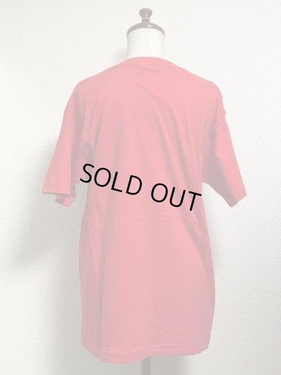 画像2: 【50%OFF】音符ネコ柄Tシャツ【男女兼用Mサイズ・レッド】