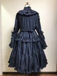 画像3: スタンドカラープリンセスドレス【ネイビー】