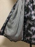 画像2: 【Sale30%OFF】ネコ迷彩柄ハンドメイドスカート【ストライプ切替・38cm丈】  (2)