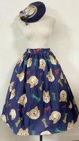 画像2: 【新春企画】スカート+ベレー+手袋セット【しば犬セット・スカート70c丈】 (2)
