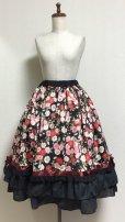 画像2: ハンドメイドギャザースカート+ヘッドドレスセット【和柄・53c丈】 (2)
