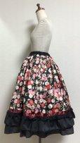 画像3: ハンドメイドギャザースカート+ヘッドドレスセット【和柄・53c丈】