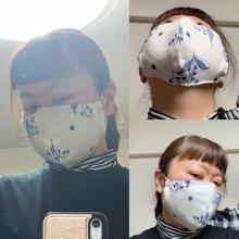 他の写真1: マスクAセット【ギンガムチェック水色・ストライプ2個セット・送料込】