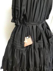 他の写真1: 小公女3段ティアードドレス【黒×グレーストライプ】
