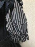 画像8: 小公女3段ティアードドレス【黒×グレーストライプ】