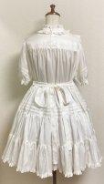 画像3: 小公女3段ティアードドレス【ツヤ白ストライプ(やや薄手生地】