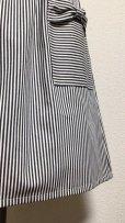 画像2: ハンドメイドギャザースカート【ストライプデニム・61c丈】 (2)
