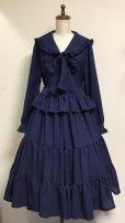 画像3: 3段ティアードスカート【紺】 (3)