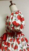 画像6: 【送料無料】アーリーサマーセットいちご柄白系【いちご柄ワンピース+イチゴ柄巾着+ミニトートBAG】